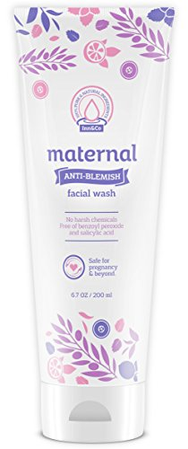 41Ao3md3h4L - Maternal Anti-Blemish Face Wash 6.7oz – For Acne Prone And Problem Skin – Safe And Effective For Expecting Mom To Be And Beyond Pregnancy