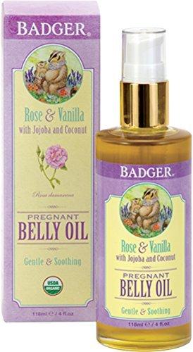 51HtMo7VRwL - Badger Organic Pregnant Belly Oil - Jojoba & Coconut - 4 oz.