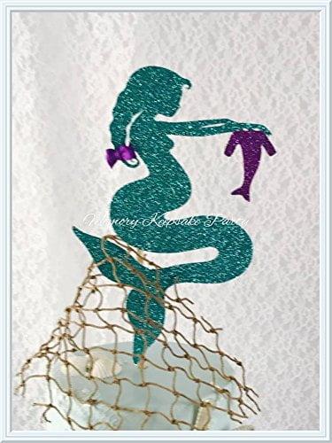 51q4EIjcFkL - Pregnant Mermaid Cake Topper
