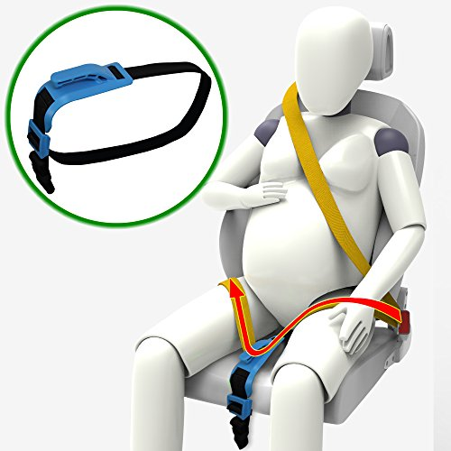 51W tRBW0pL - Zuwit Bump Belt, Maternity Car Seat Belt Adjuster, Comfort & Safety for Pregnant Moms Belly, Protect Unborn Baby, a Must-have for Expectant Mothers (Blue)